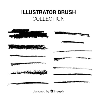 イラストレーターのブラシコレクション