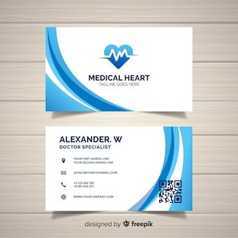 病院や医者のクリエイティブな名刺のコンセプト