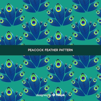 美しい孔雀の羽のパターンデザイン