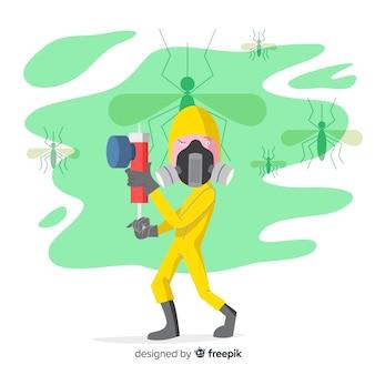 創造的な蚊のコンセプト