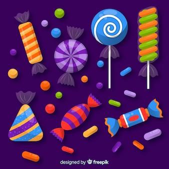ハロウィーンのキャンディーコレクション