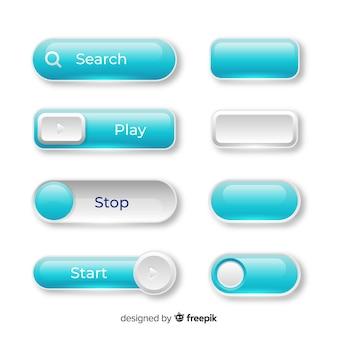 Веб-кнопки в стиле градиента