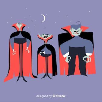 ハロウィーンの吸血鬼のコレクション