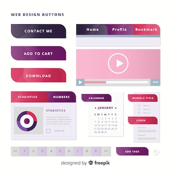 最新のグラデーションスタイルのウェブボタン