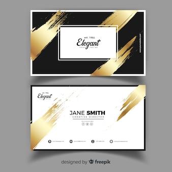 Шаблон визитной карточки в элегантном дизайне