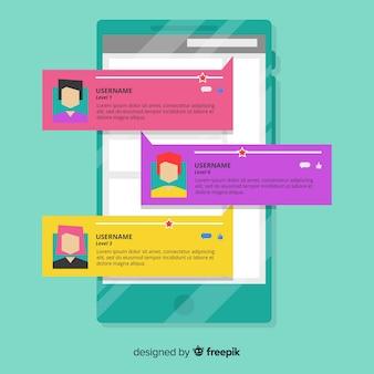 Творческий веб-дизайн отзывов