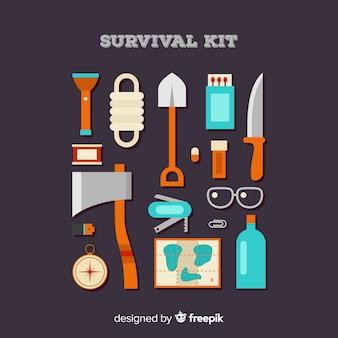 Комплект аварийного выживания с плоской конструкцией