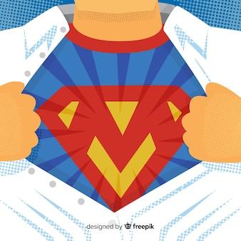 スーパーヒーローの衣装の背景