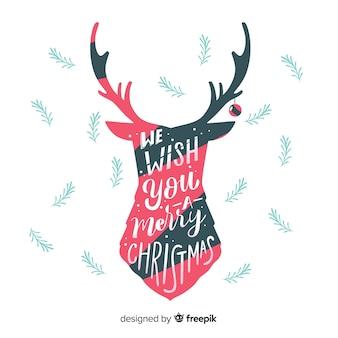 鹿のクリスマスの背景