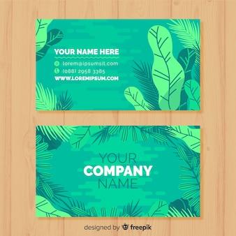 自然デザインのプロフェッショナル名刺