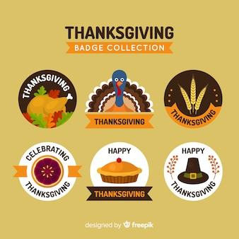 感謝祭の日のラベルのコレクション