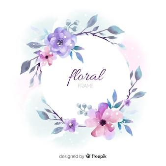 美しい花のフレームデザイン
