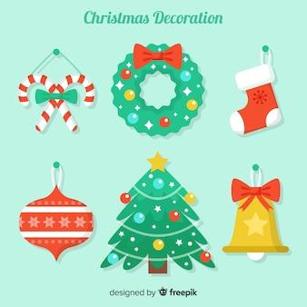 美しいフラットクリスマスデコレーションデザイン