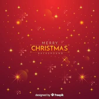 Рождественский красный фон мерцания