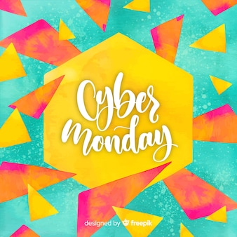 Акварель кибер-понедельника продаж фон