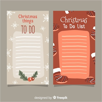 クリスマススタイルのリストコレクションを行う現代