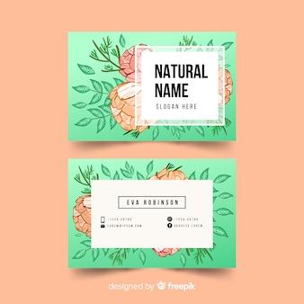 自然の概念を持つ美しい名刺