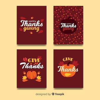 幸せな感謝の日カードコレクション