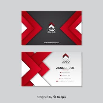 Современный шаблон визитной карточки с абстрактными фигурами