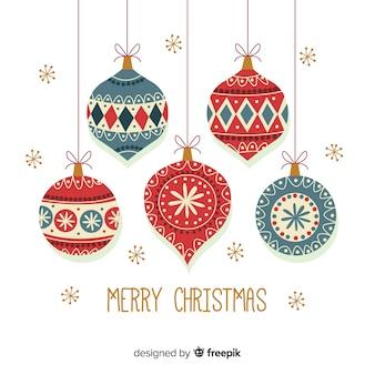 フラットクリスマスデコレーションデザイン