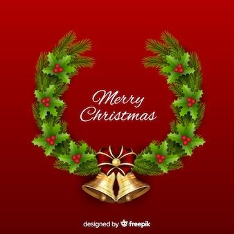フラットスタイルのクリスマスデコレーション