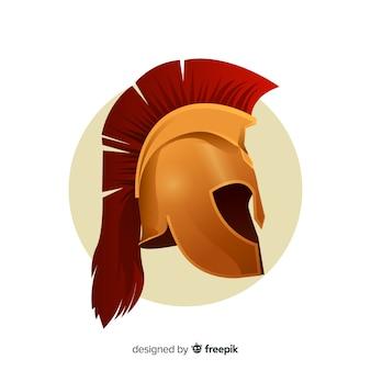 グラデーションスタイルのクラシックスパルタヘルメット