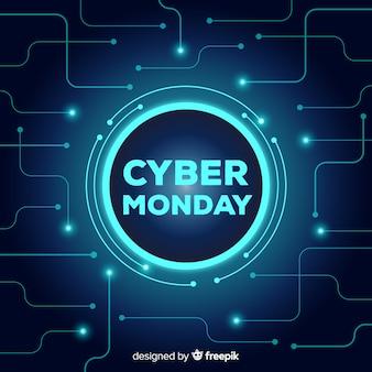 Кибер-понедельный распродажа фон неоновый стиль