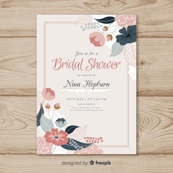 美しい花嫁のシャワーのテンプレート