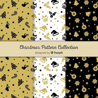 Элегантная коллекция золотых рождественских образцов