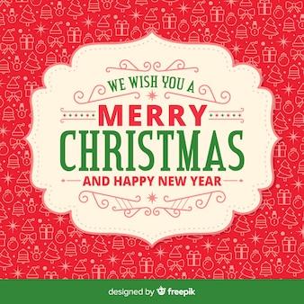 背景パターンとクリスマスのデザイン