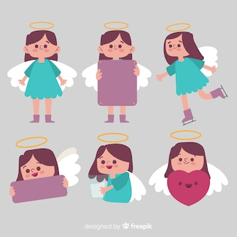 クリスマスの女の子の天使のコレクション