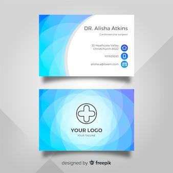 Шаблон медицинской визитной карточки с современным стилем