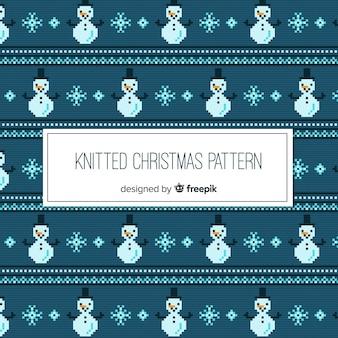 カラフルなニットのクリスマスパターンコレクション