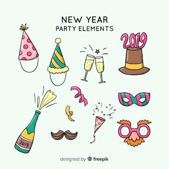 Прекрасный ручной сборник элементов нового года