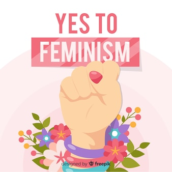 フラットデザインを用いた現代フェミニズムの概念