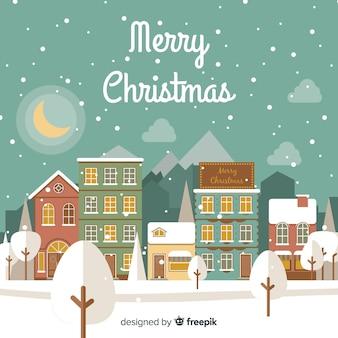 フラットクリスマスタウン