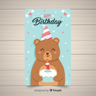 最初の誕生日カードのテンプレート