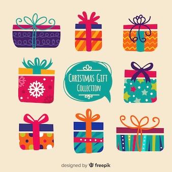 幾何学模様のクリスマスギフトボックスコレクション
