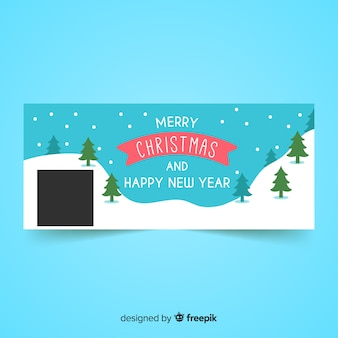 美しいクリスマスのフェイスブックカバー