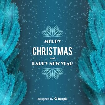 クリスマスソーイングは、ヴィンテージフォントの背景を葉