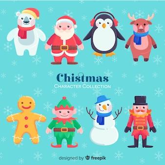 素敵な手描きのクリスマスキャラクターコレクション