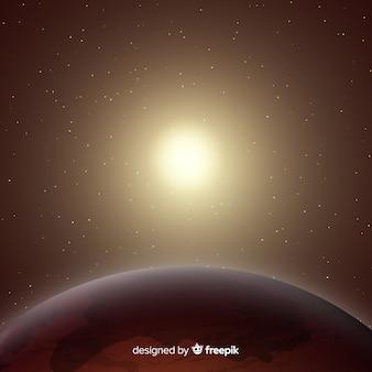 現実的なデザインの現代火星の背景