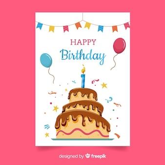 最初の誕生日の大きなケーキの挨拶