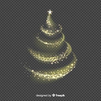 エレガントなクリスマスツリーの背景は、装飾品で作ら