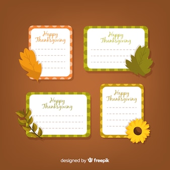 幸せな感謝祭のラベルコレクション