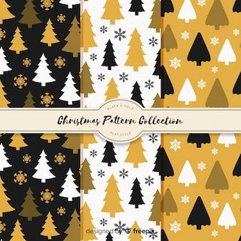 クリスマスフラットクリスマスツリーパターン