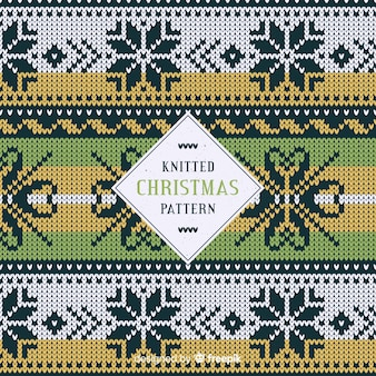 クリスマスのニット雪片パターン