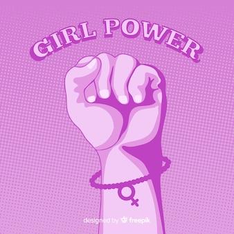 平らな拳を伴うフェミニズムの構成