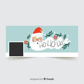 サンタクロースロングひげのフェイスブックカバー