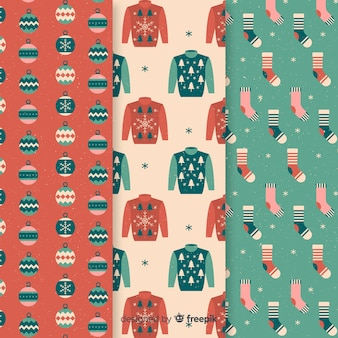 クリスマスの服のパターン